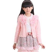 Wholesale 3 Lace Skirt Good Quality Set Children Girl s Long Sleeve Lady Short Lace Shawl White Shirt Spots Lace Skirt Gir s Set Sets