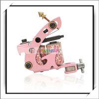 Wholesale shipping free HB WPT095 Warps Coils Beginner Tattoo Machine Liner Shader Gun Pink Good and High Quality H00994