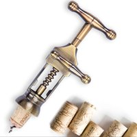 antique coolers - Retro European Red Wine Bottles Opener Zinc Alloy Material Corkscrew Middle Age Style Cork Puller Antique Bronze Color order lt no track