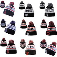 american league hat - New north American baseball league wool hats foreign trade jacquard thermal knitted hats women and men winter hats