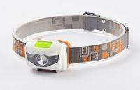 Wholesale Mini Portable Headlamp LM Headlight Cree R3 Headlamps LED Flashlight Headlights Torch Lanterna With Headband Hiking Camping By DHL free