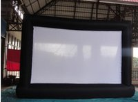 Wholesale 8 m Giant Inflatable Movie Screen Outdoor Inflatable Screen With Blowers