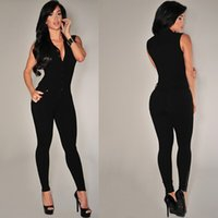 Wholesale 2015Summer Women Sexy Long maxi Jumpsuit Solid Casual bodycon deep V neck hollow out Tunic Sleeveless backless Rompers plus szie FG1511