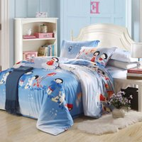 anne bedding - 2015 spring new cute blue Anne baby print bedding set cotton full queen size duvet quilt covers for girl s home decor linens