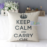 Wholesale Vintage Throw Home Decorative Cotton Linen Sofa Pillow Case Cushion Cover Crown Popular Sofa Decoration