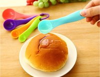 Wholesale 5 Pieces Set Baking spoon Multicolor Measuring Spoons Scoop Ice Cream Cake Egg Milk spoon Kitchen Tool Utensil