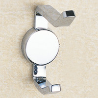 Wholesale Robe Hooks Brass Wall Mounted Channel Single Coat Hooks With Chrome Bathroom Accessories for Sale