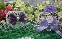 Wholesale Fashion Hot Sillver wedding box iron carriage baby favour box