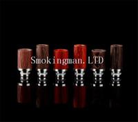 Wholesale E Cigarette wood drip tips wide bore tips for dct ce4 protank RBA atomizer mouthpiece e cig rda vaporizer Glass Globe mod e cigarettes