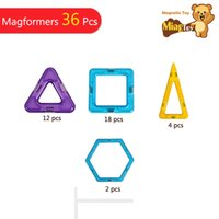 Wholesale Kids Toys Educational Standard Set Triangle Hexagonal Square Magnetic Toy