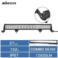 Wholesale 27 quot W Cree LED Work Lamp Bar Flood Spot LM K IP67 Combo Beam Led Worklignt for Offroad Truck Boating Hunting Fishing