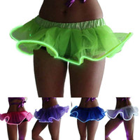 Wholesale 2016 Light Up Tutu Gogo Dancing El Wire Accessory Clothing Skirt Rave Gear EDM