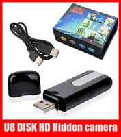 Wholesale Mini DVR U8 USB DISK HD Hidden camera Spy Camera Motion Detector Video Recorder x480