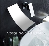 bathroom sink faucet installation - New arrivals waterfall wall mount single handle basin faucet mixer tap bathroom sink cocealed installation chrome finish RZ