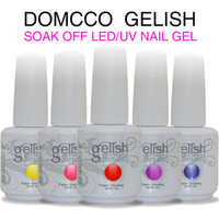 Soak-off Gel Polish uv gel nail polish - Choose Color base coat top coat DOMCCO Gelish Long lasting soak off LED UV gel nail polish nail art uv nail gel lacquer varnish