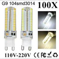 100X New G9 G4 LED E14 maïs léger 6W 9W 110V 220V SMD3014 corps Sillcone Mini Ampoule LED Spot Light Crystal Chandelier