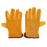 Wholesale 1 Pair Working Protection Gloves Leather Safety Gloves Wear resistant Multifunction Gloves for Outdoor Indoor Activities