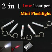 Cheap Universal Chargers Mini Flashlight 2 in 1 Best   1mW Beam Red Laser