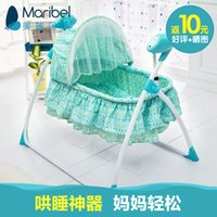 Wholesale Baylor baby electric cradle bed music baby shaker multifunctional folding automatic baby swing sleeping basket