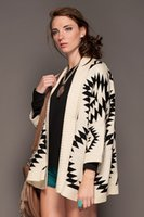 aztec sweater jacket - Women Aztec Oversized Open Front Loose Sweater Cape Cardigan Coat Jacket Outwear