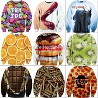 Wholesale Wholesale1991INC Originality Fashion D sweatshirt Funny printed hoodies long sleeve pullover men s women s blouse size