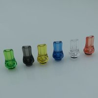 Wholesale E Cig plastic Drip Tips Flat Nose Drip Tip Colorful Candy Drip Tip For Atomizer E cigarettes for ego Atomizers V3 V3 Atty RDA