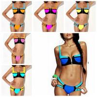 women dress suits - 2015 Summer Women Zipper Triangle Bikinis Bathing Suits casual dresses Beach wrap Outside Party Swimwear Underwear for women swimsuits YY004