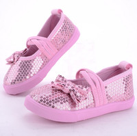 Wholesale new spring autumn winter Children s boys girls babys sequins princess canvas casual colors shoes student shoes YY