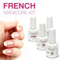 best gel manicure - Civi Nail Gel Polish Soak Off Nail Gel UV Days Long Lasting French Manicure Kit The Best Gel Polish