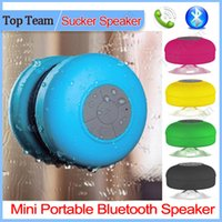 Wholesale Portable Mini Waterproof Wireless Bluetooth Speaker Shower Hands free Suction Cup In car Built in Microphone for iPhone Samsung