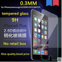 apple box set - MOQ sets no retail box D round broader mm tempered glass screen for apple iphone plus S S samsung S5 S4 S3 Note4 G3