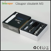 Cheap Cloupor cloutank M3 atomizer clone Replaceable vaporizer 2in1 for Dry Herb Wax E Cig Atomizer vs cloutank M4 aspire atlantis kits