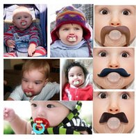Wholesale Silicone Funny Nipple Dummy Baby Soother Joke Prank Toddler Pacy Orthodontic Nipples Teether Baby Pacifier Care