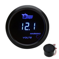 auto meter instruments - Universal Led Auto Meter Gauge Car Digital Voltage Tester Monitor mm in LCD V Warning Light Black V K974