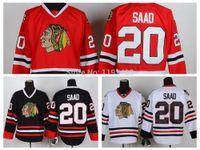 wholesale china jersey - Discount Chicago Blackhawks Hockey Jerseys Brandon Saad Jersey Home Red Road White Third Black Men s Stitched Jerseys China