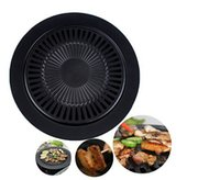 barbeque gas grill - Smokeless Barbeque Grill Pan for Indoor Household Gas Stove BBQ Grill Pans Outdoor BBQ Tools