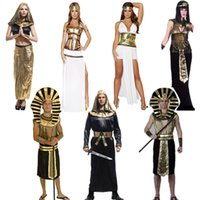 indian clothes - Halloween Costumes Egyptian Cleopatra dress Pharaoh apparel Egyptian King Cosplay clothing for celebrating Halloween jaguartee