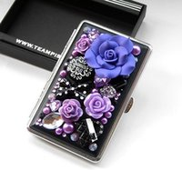 anna roses - FBH052463 creative personality female lengthen ultra thin Anna roses automatic cigarette boxes