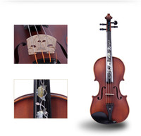 Tianyin Brand New Natural Ebony Professional Grading Test Instruments de violon High Grade Hand made Solo Playing Violin