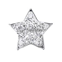 "Cheap Snap Jewelry 5PCS ""Star"" Shaped Ginger snap button Fit Snap Button Bracelet and Button Pendant Rhinestone Delicate"
