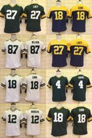 throwback football jersey - Packers Youth Jerseys Eddie Lacy Aaron Rodgers Elite Version Stitched Jerseys Green White Throwback
