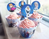 Wholesale frozen CUPCAKE WRAPS TOPPERS CASES CUP CAKE Paper Wrapper Topper Party Buffet Cake Surrounding Edge Feast Dessert