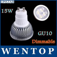 Cheap GU10 15W Dimmable 5*3W LED Sport light lamp High Power bulb warm cool white 80W AC 110V 220V 240V with tracking number