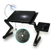 Wholesale Foldable Laminating Laptop Desk Notebook Table Portable Computer Stand Laptop Table With Cooler And Mouse Pad