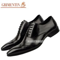 beading business - Europe luxury brand formal mens oxford shoes top grade genuine leather flats men wedding party business office size6