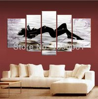 nude women oil painting - Hand Painted Nude Oil Painting Naked Woman Lady Modern Canvas Wall Art Piece Abstract Pictures Home Decoration Set No Frame