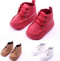 anti red cross - New Spring Autumn Handsome Newborn Baby Boys Kids First Walkers Shoes Infant Babe Soft Soled Anti slip Boots Booties Shoes JIA724