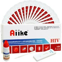 Wholesale AIIKE AIDS Self Testing Set Kit Colloidal Gold HIV Home Blood Test Self Tester Disposable Safe Detection