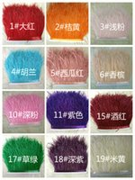 Wholesale 10 Yard Piece DIY Dresses Fabrics Accessories Ostrich Feathers colors Fringe Trim cm Boa Stripe for Party Clothing Accessories Craft