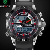 Wholesale New Brand WEIDE LED watches Dual Time Analog Digital Military Watch Waterproof Men Sport Watch WH